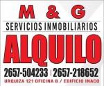 DPTO ZONA ESTACION, M&G servicios inmobiliarios, villa mercedes